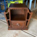 Antique mahogany humidor/magazine rack table