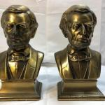 Vintage Brass Abraham Abe Lincoln Bookends