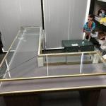 Vintage L Shaped Locking Jewelry Display Cabinet
