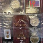Lot 88 - Kennedy half dollars with stamps