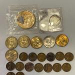 Lot 100 - Thomas Jefferson, James Madison, (3) Sacajawea dollar coins, Susan B.A