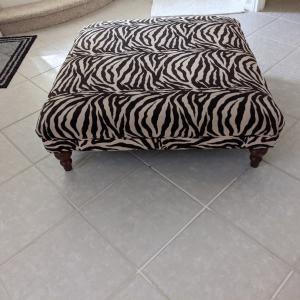 Photo of Zebra Ottoman