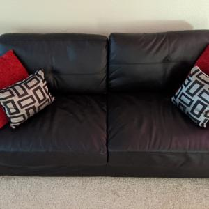 Photo of Black Couch Set 2 pc