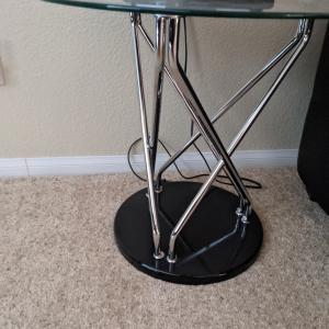 Photo of Glass Coffee Table with 2 Glass Side Tables