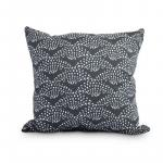 Fan Dance 16 Inch Black Geometric Print Decorative Outdoor Throw Pillow - New