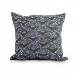 Fan Dance 16 Inch Black Geometric Print Decorative Outdoor Throw Pillow - New