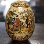Hand Painted Geisha Vintage Egg