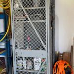 Steel shop cage / lockable