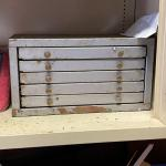 vintage 5 drawer small parts cabinet