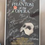 The Phantom of the Opera Autographed framed poster