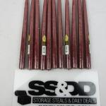 11 Maroon Taper Candles - New