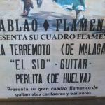 """Lot 29 Framed Poster for Tablao Flamenco Dancers """"El Sid"""" Framed Under Glass"""