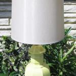 Lot 25 Vintage Table Lamp Ceramic Celadon Green by Barker Bros.
