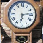 Lot 14 Antique Ansonia Wind Up Regulator Clock As Is