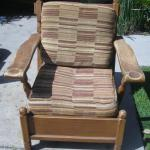 Lot 36 Vintage 1950s Maple Arm Chair by Roberti Bros. Cushions Seat & Back
