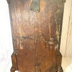 Lot 57 Antique Mantel Clock w/Key & Pendulum Wood