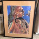 ART 46 Pastel Drawing by Sid Hoskins Long Beach Artist