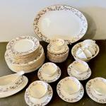 Lot 117 Franciscan China Woodside Pattern Made California 63pcs Service for 12 D