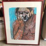 ART 42 Pastel Drawing by Sid Hoskins Long Beach Artist Wrinkles in Time