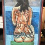 Lot 51 Pastel Drawing by Sid Hoskins Long Beach Artist Tattoo