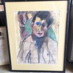 ART 41 Pastel Drawing by Sid Hoskins Long Beach Artist