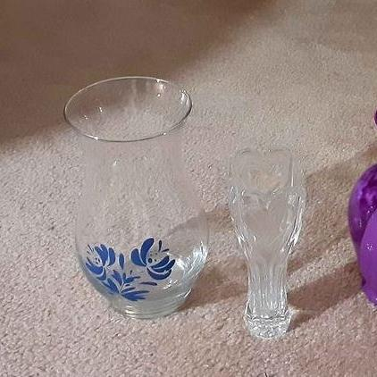 Photo of Decorative Crystal & Ceramic Vases-All 3 for $7