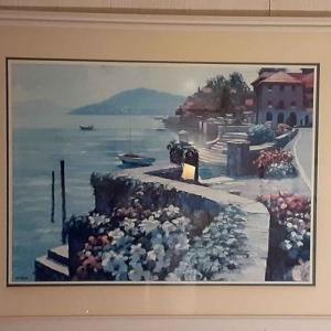 Photo of Coastal Water Scene Framed Artwork