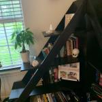 Bookshelves triangle shape