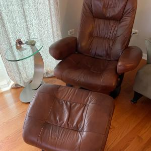 Photo of Leather chair and ottoman