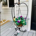 Wrought iron planter ! 973-600-3177
