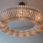 Crystal Ring Shape Chandelier - Cool Interesting Decor Design - Fancy Donut Ligh