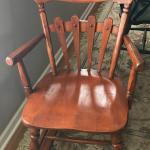 ROCK MAPLE ROCKING CHAIR