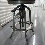 Brand New Bar or Workspace Counter Stool - Adjustable Crank - Retro Steampunk De