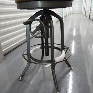 Photo of Brand New Bar or Workspace Counter Stool - Adjustable Crank - Retro Steampunk De