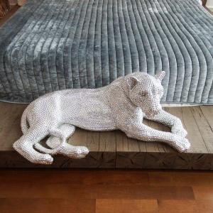 Photo of Huge Bejeweld Jaguar - Jay Strongwater - Rare Collectible Sculpture Figurine