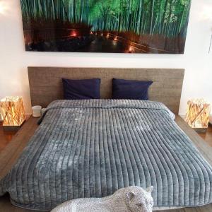 Photo of Aspen French Oak Platform Bed - Modern Bedroom Frame - Low Lying Designer Wood -