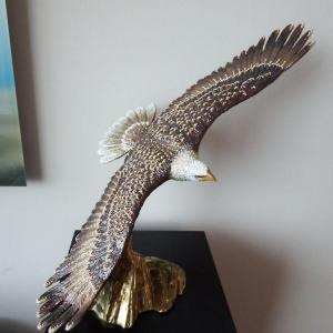 Photo of Soaring Eagle Jay Strongwater Collectible Figurine - Rare - 2' Feet Tall!