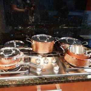 Photo of Fancy Cuisinart Copper Hammered Cook Wear Set- Barely Used- 8 Piece Set