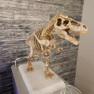 Photo of Jay Strongwater T-rex Figurine - Fancy & Rare Large Crystal Statue