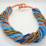 Seed Bead Twisted Multi Strand Necklace