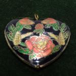Cloisonné Bubble Heart Pendant - Oversized