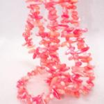 Multi Strand Coral / Shell Like Beaded Necklace