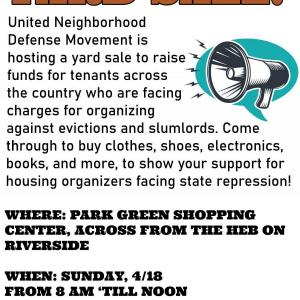 Photo of Community yard sale and fundraiser!