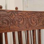 Lot 343: (4) Vintage Carved Accent Wood Dining Chairs