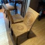 Wicker style chairs