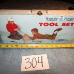 LOT 304  TOY TOOL SET