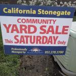 Community Garage Sales- April 17th (SATURDAY ONLY)
