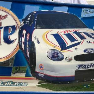 Photo of Rusty Wallace Miller Lite 2000 Miller Brewing Co. framed mirror