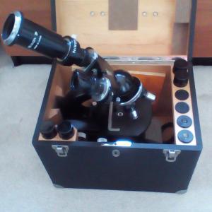 Photo of Carl Zeiss Laboratory Microscope - Model KF124-202