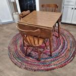LOT 76 KITCHEN TABLE WITH 3 CHAIRS